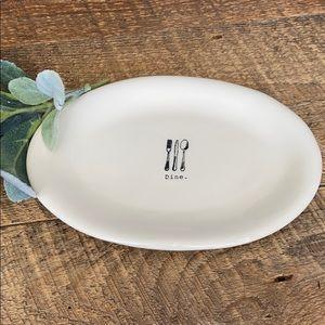"""Rae Dunn """"Dine"""" small oval plate"""